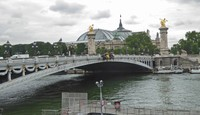 The Grand Palais in Paris from Pont Alexandre III