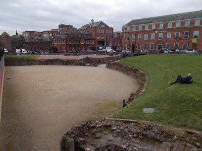 The Roman amphitheatre.