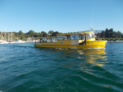 yellow shuttle boat.