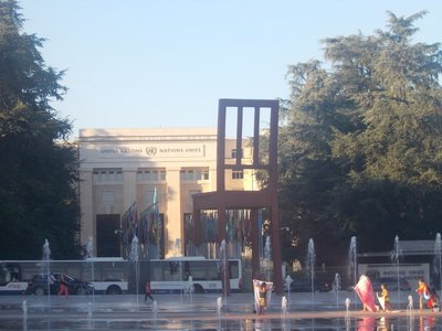 The Broken Chair and the UN Headquarters.