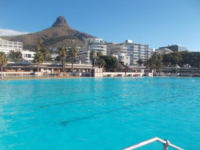 Swimming at Saint John's in Sea Point.