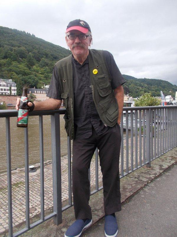Peter with his Heidelberg beer.