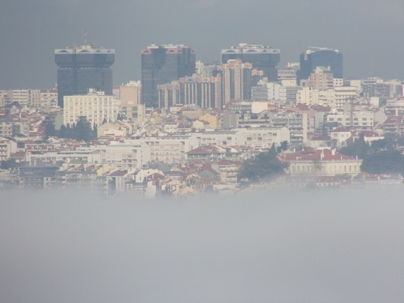 Lisbon floating on the fog.