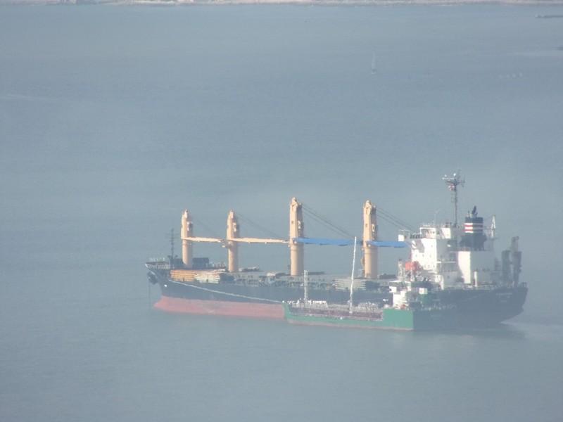 Ships in the fog.