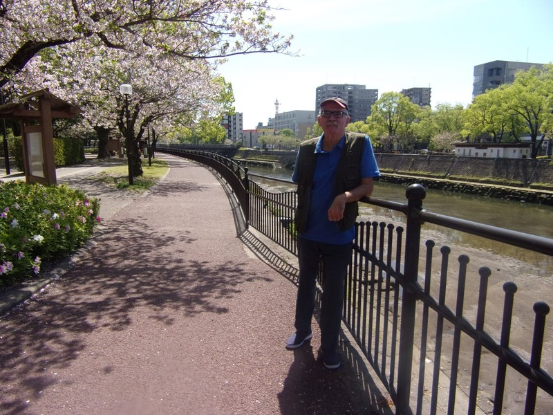Cherry trees by the river.