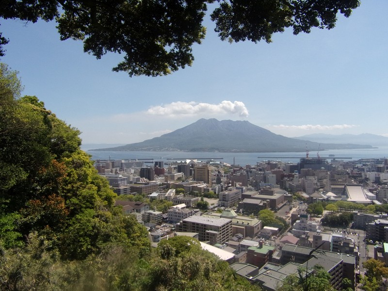 Looking towards the volcano.