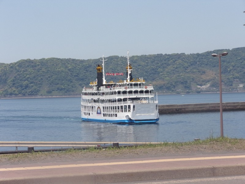 Ferries to the island.