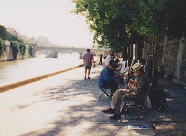 Pavement artists, The River Seine - Paris