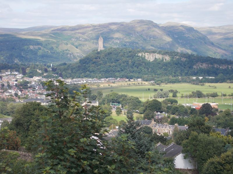 The Wallace Monument viewed from the castle. - Stirling