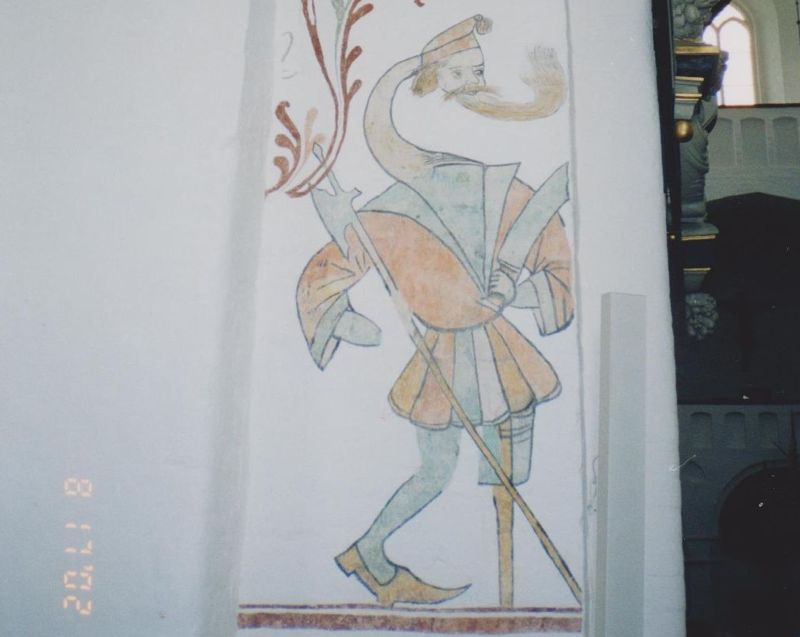 On the walls of Aarhus Cathedral. - Denmark