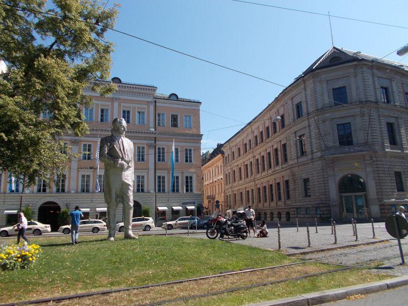 Sculpture of Maximilian von Montgelas. - Munich