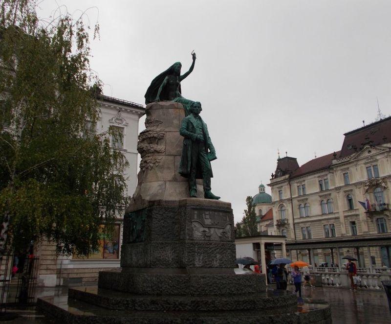 Preseren and the poetic muse - Ljubljana