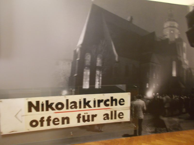 Old photo showing the church was open to all. - Leipzig