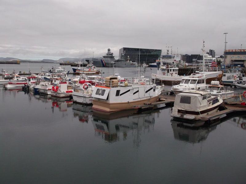 The harbour looking towards Harpa. - Reykjavík