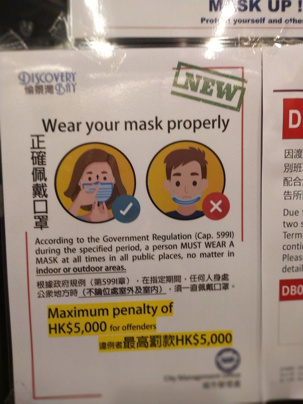 Facemask posters.