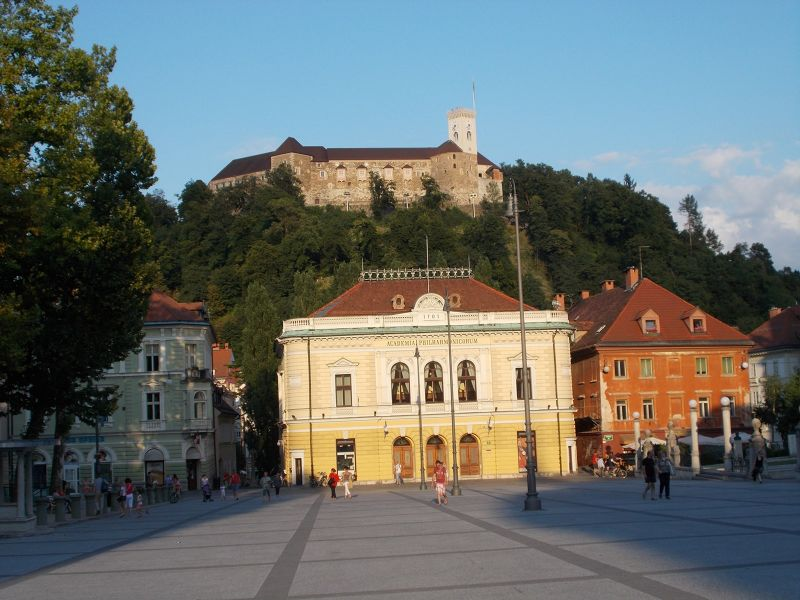 Fortress from Kongresni Square - Ljubljana