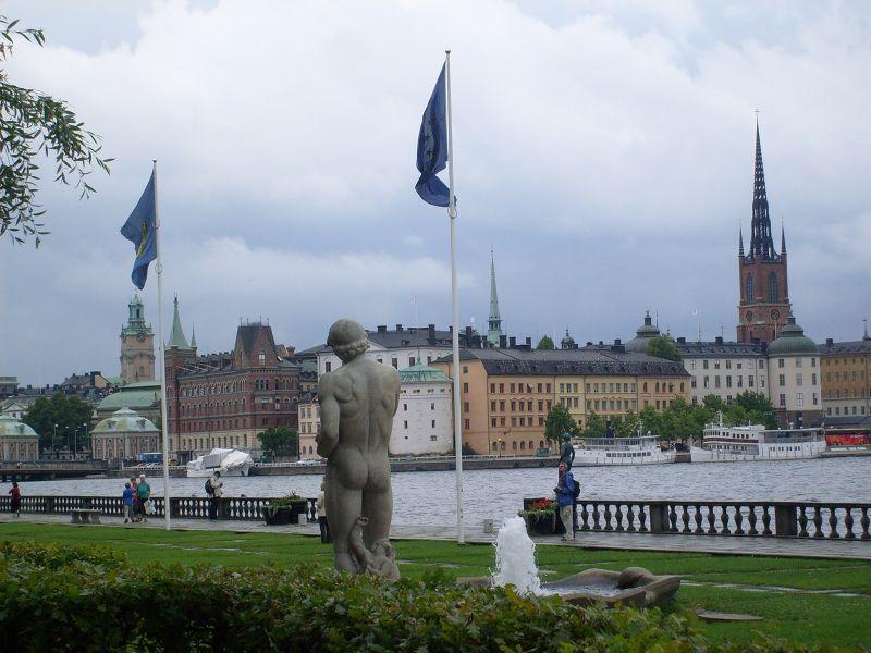 Looking towards Riddarholmen. - Stockholm