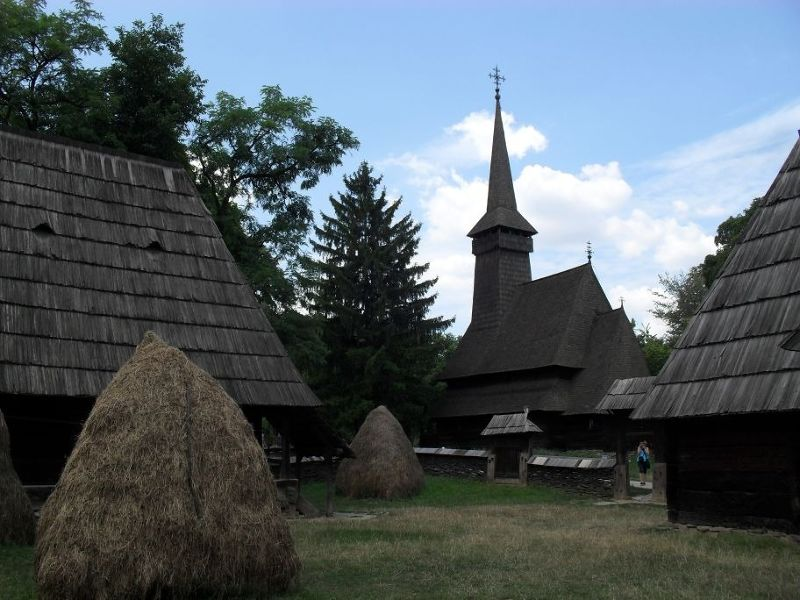 Old wooden church at the Village Museum - Bucharest