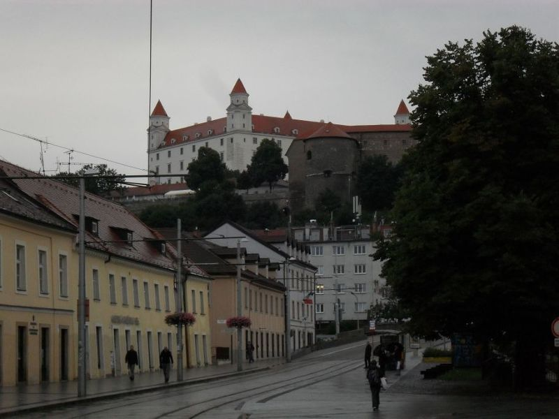 View of the castle from the old town - Bratislava
