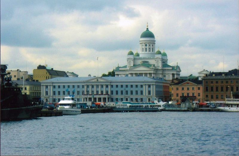 Harbour front looking towards cathedral. - Helsinki