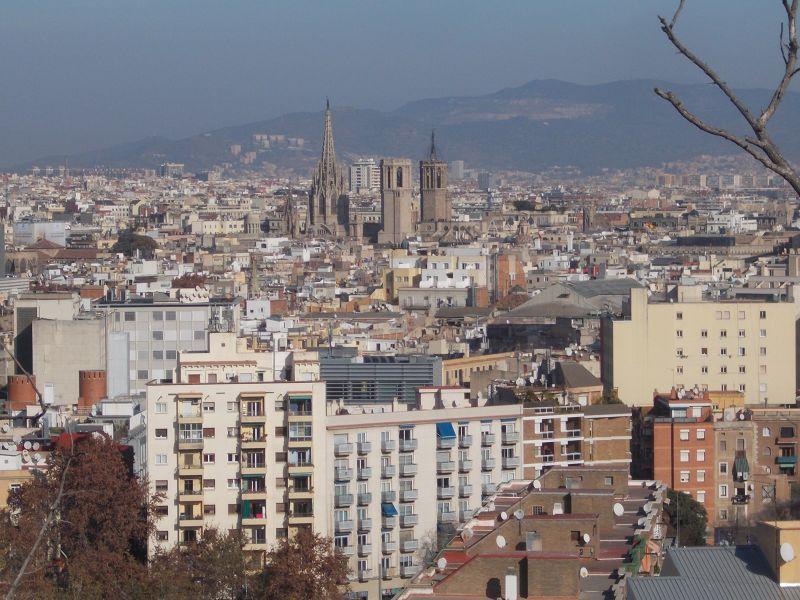 Montjuic - Views from the Miramar Mirador. - Barcelona