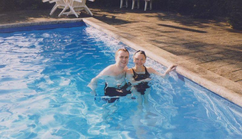 Our travel companions enjoying a swim. - Denmark