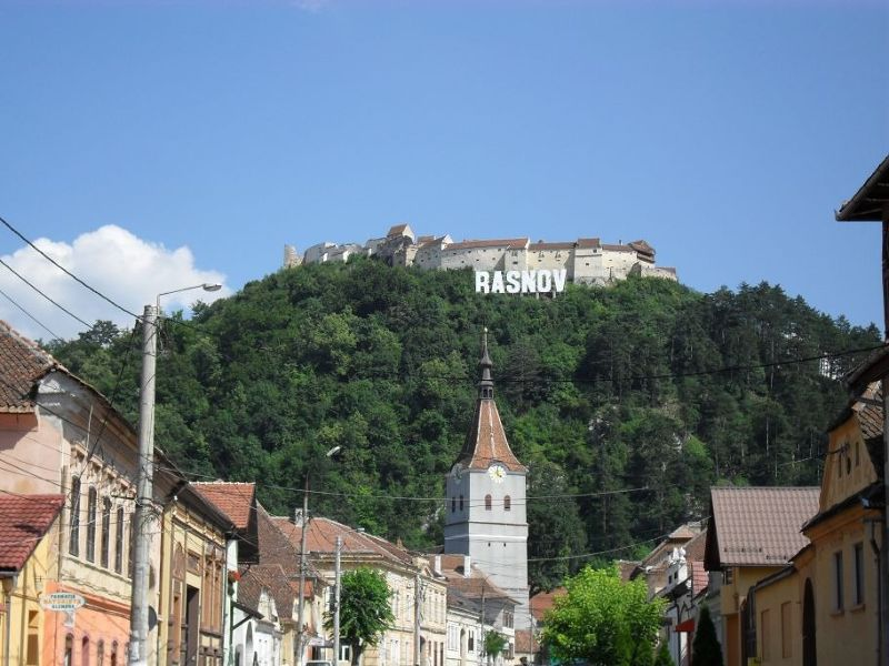 The fortress high above the town - Rasnov