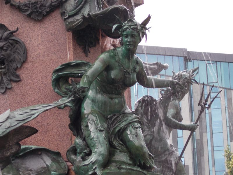 Detail from the Mende Fountain - Leipzig