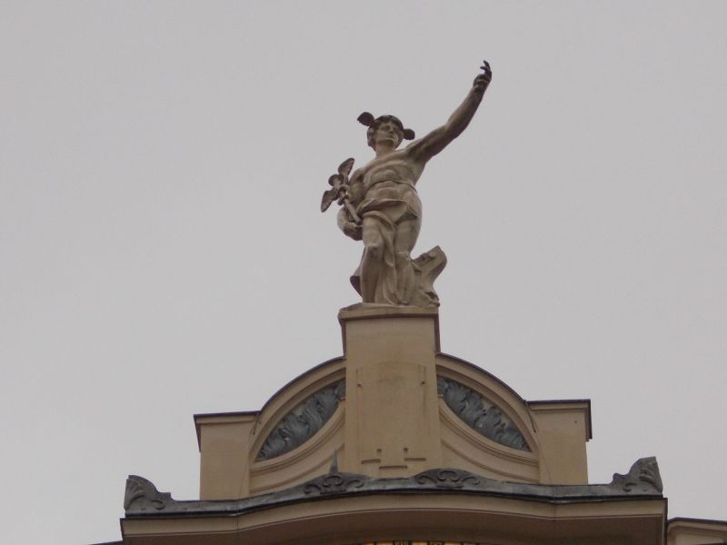 Mercury flying over the department store - Ljubljana