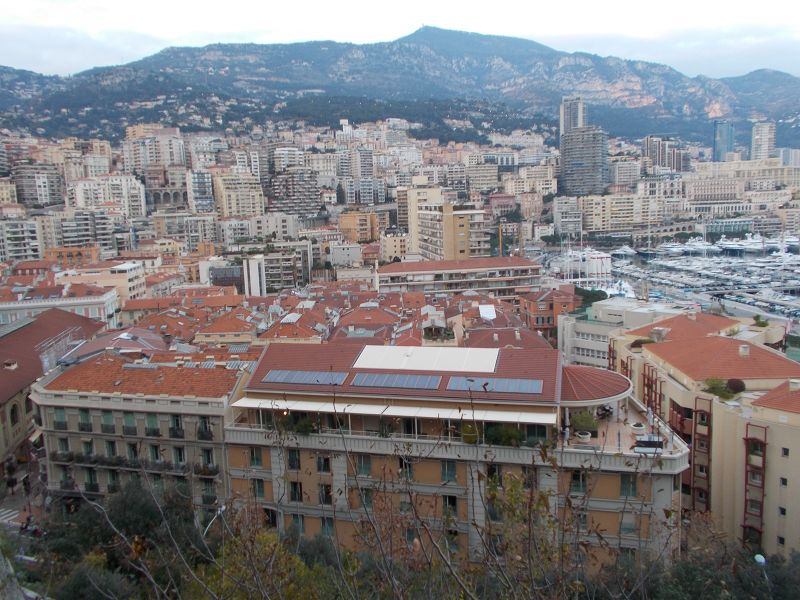 Views over the port from the old town. - Monaco