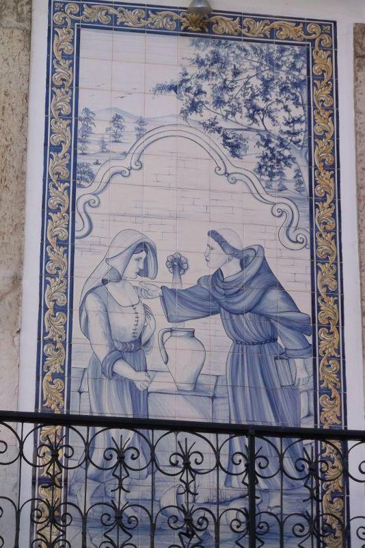 Portuguese tiles in Alfama area. - Lisbon