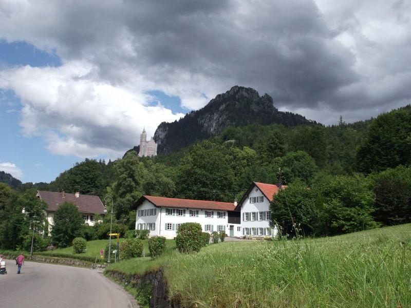 Neuschwanstein in the distance not at its best. - Fussen