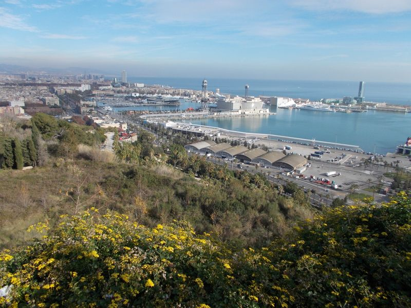 Montjuic - Views from higher up. - Barcelona