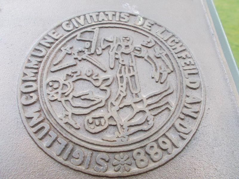 Beacon Park - Martyr's Plaque Seal - Lichfield