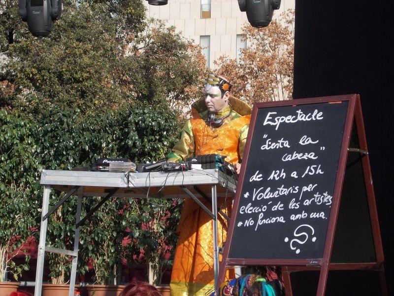 Weird hair-dressing event, Catalunya Square. - Barcelona