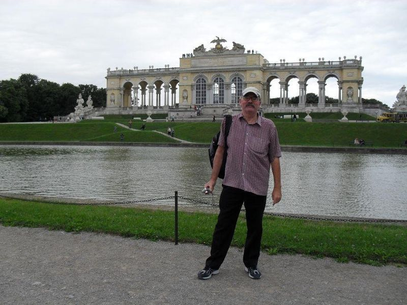 My husband at the Gloriette - Vienna