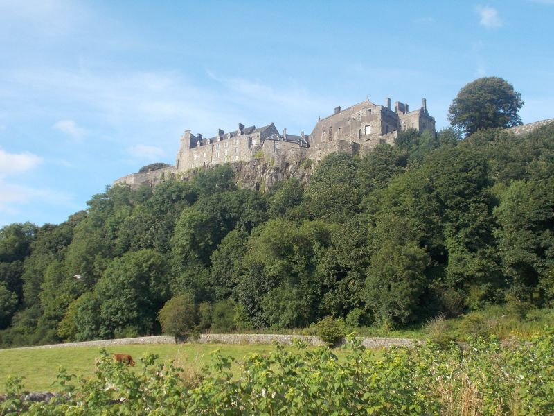 Stirling Castle perched on its hill. - Stirling