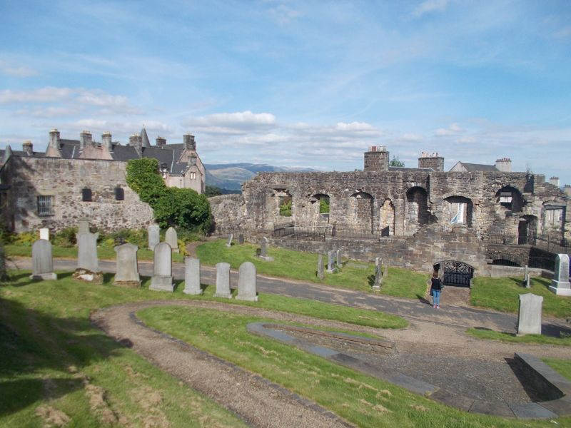Mar's Wark viewed from the cemetery. - Stirling