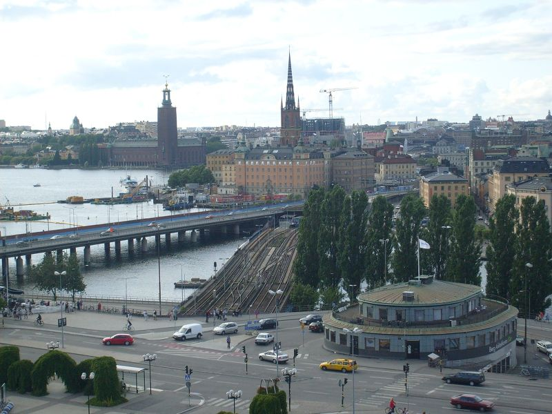 View towards Riddarholmen and the City Hall. - Stockholm
