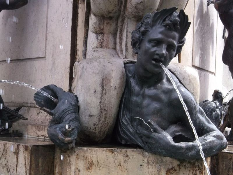 Detail from the Hercules fountain/ - Augsburg
