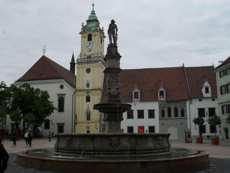 The main town square - Bratislava