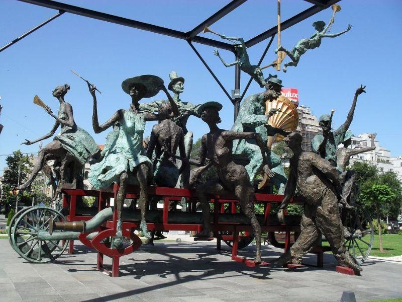 Sculpture, University square - Bucharest