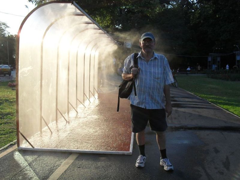 Shower bus shelters
