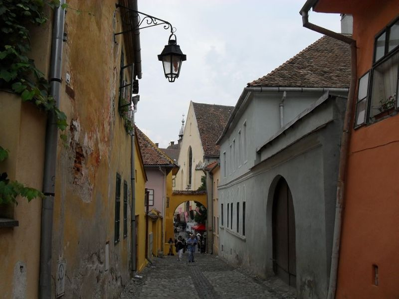 Typical Sighisoara street - Sighisoara