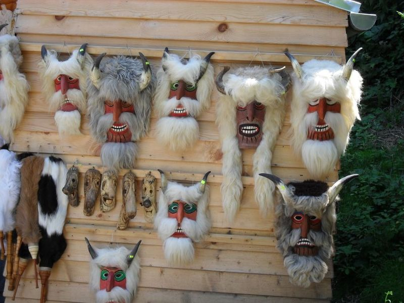 Masks at Bran Market - Bran
