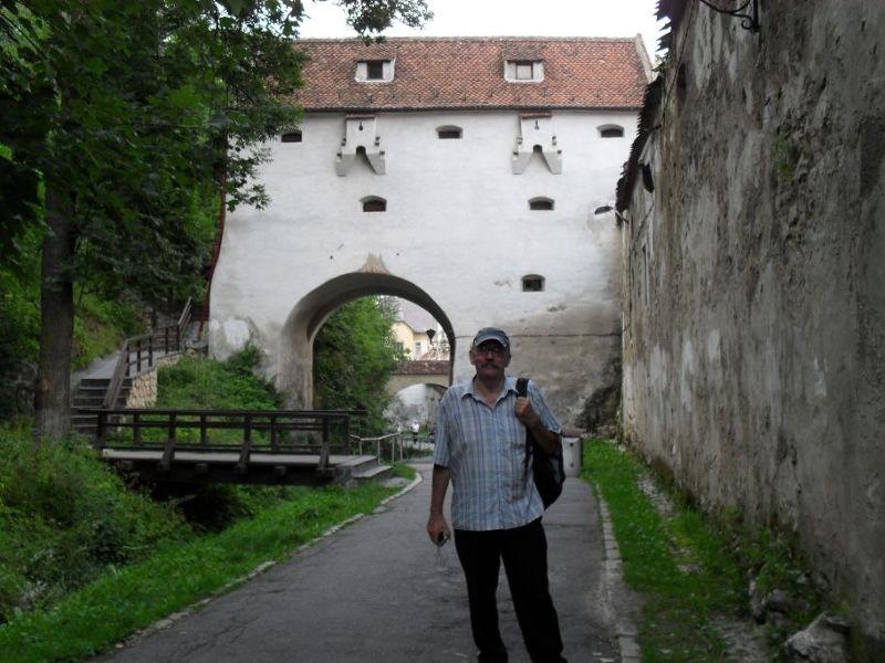Behind the city walls