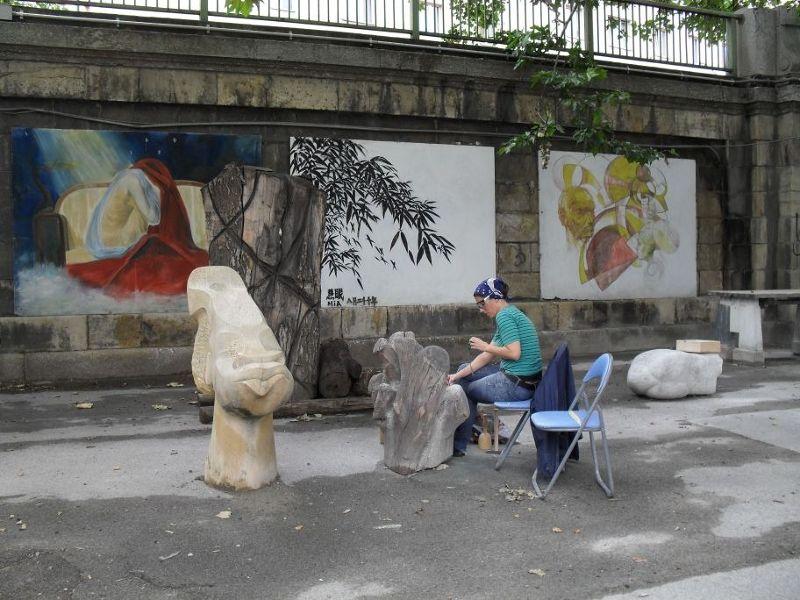 Artist at work. - Vienna