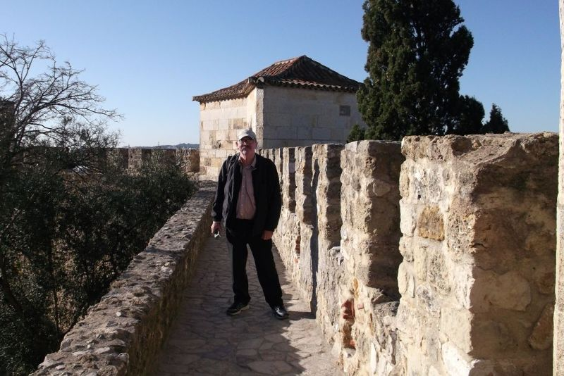 My husband on the battlements. - Lisbon