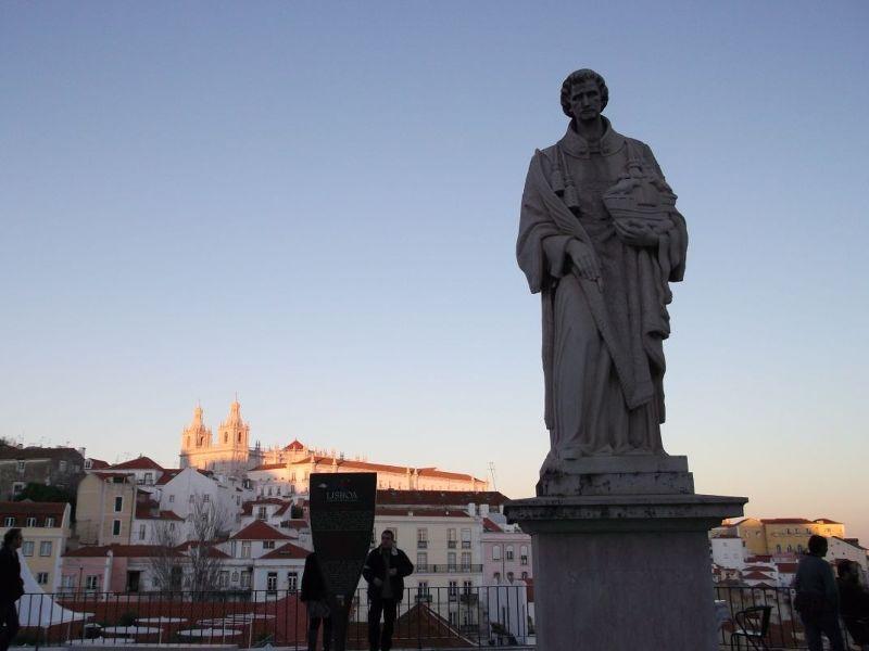 St Vincent statue, Lisbon. - Lisbon