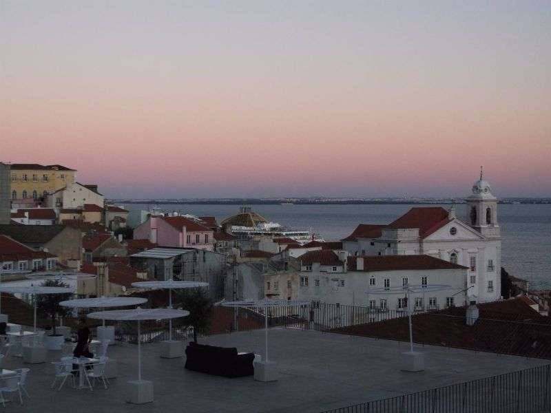 Sunset from Portas do Sol. - Lisbon